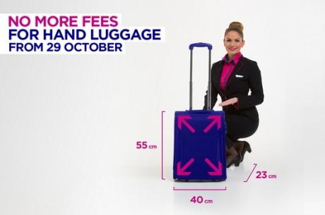 Wizz Air змінює правила перевезення ручної поклажі