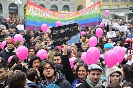 В Італії пройшли масові акції на підтримку одностатевих шлюбів - фото 1