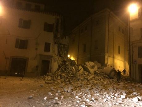 Опубликованы кадры нового землетрясения вИталии