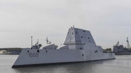 Впроцессе прохождения Панамского канала сломался эсминец Zumwalt