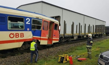 ВАвстрии электричка столкнулась стоварными вагонами, 16 раненых
