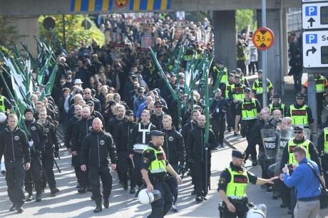 УШвеції затримали щонайменше 30 людей під час маршу неонацистів