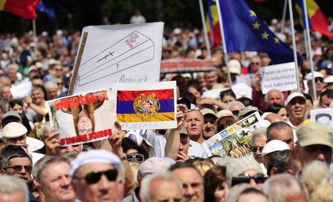 Воскресный митинг в Кишиневе