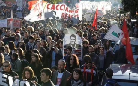 Конституционный референдум вИталии: Наулицы вышли 50 000 несогласных