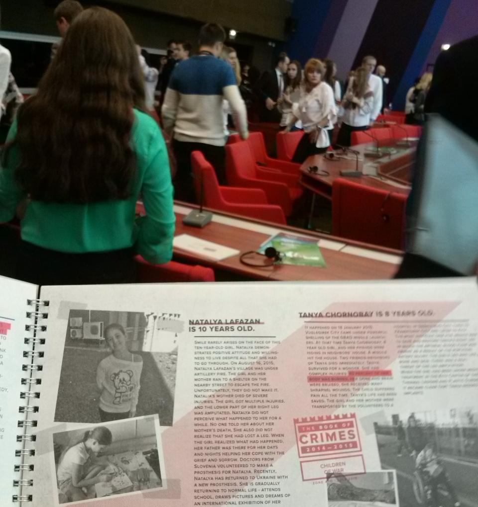 ВРаді Європі представили Книгу злочинів Росії вУкраїні