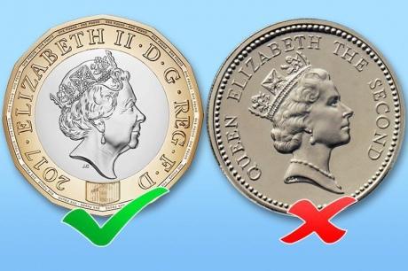 Новая однофунтовая монета поступит вобращение наБританских островах