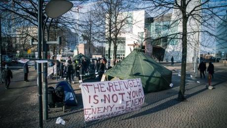 ВФинляндии протестуют мигранты, которым отказали вубежище