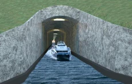 Норвегия построит 1-ый вмире тоннель для кораблей