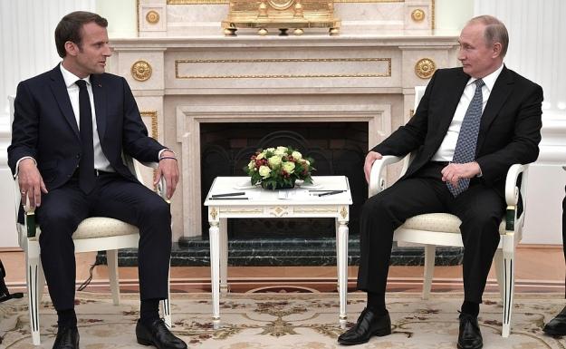 Макрон перед концом ЧМ-2018 поговорит сПутиным обУкраине
