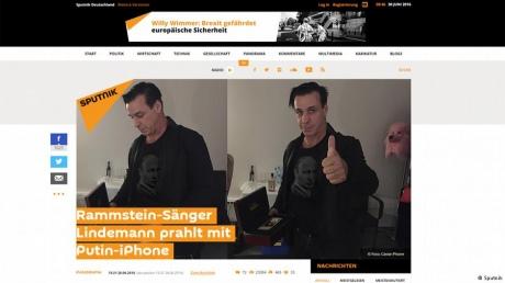 Лидер Rammstein поведал, как его подставили сПутиным