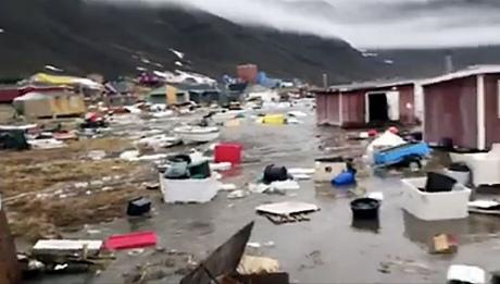 Землетрус тацунамі: вГренландії вморе змило 11 будинків