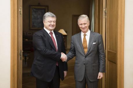 Порошенко проводить зустріч із королем Бельгії