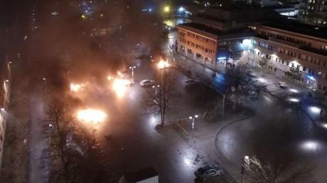 Неизвестные устроили беспорядки вСтокгольме