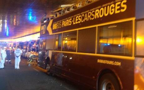 Встолице франции вДТП стуристическим автобусом пострадали 4 человека