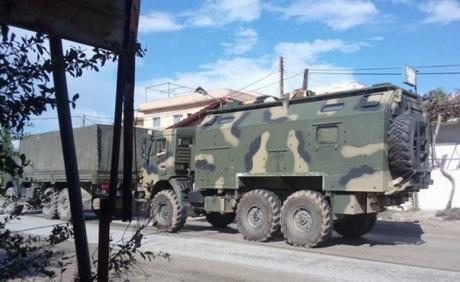 Урайоні Латакії роз'їжджає російська артилерія таБТР